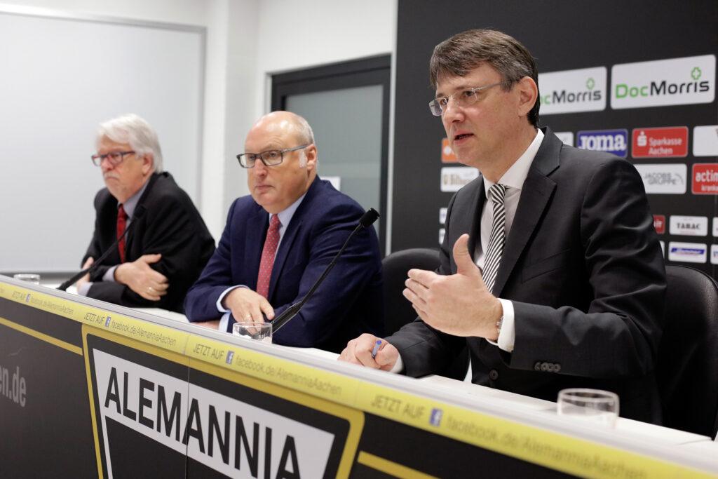 Insolvenzpressekonferenz der Alemannia